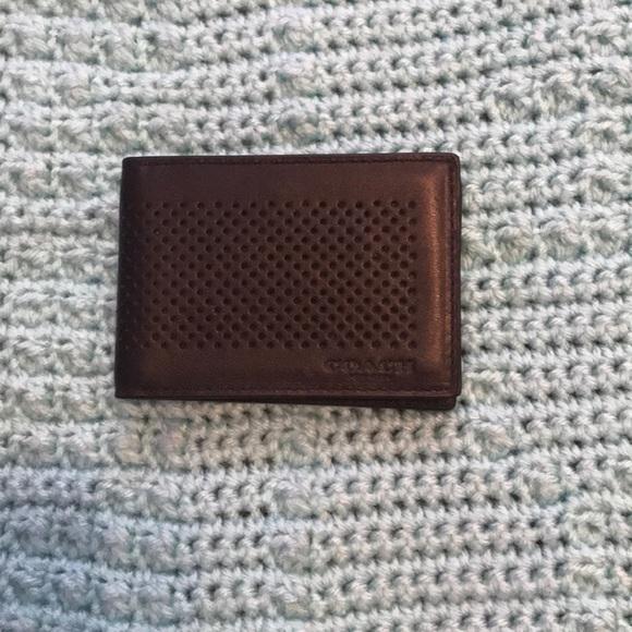 ccf96d24ed 💼🖤 Men's coach small bifold wallet